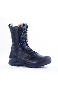 Ботинки с высокими берцами зимние нат.кожа черные