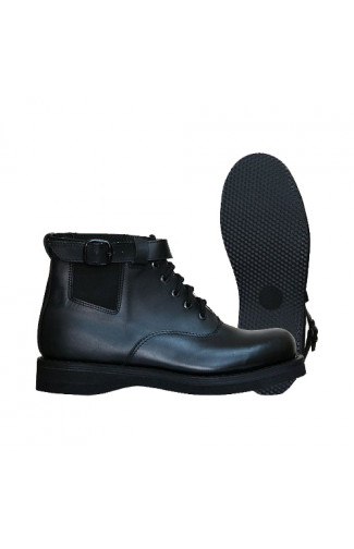 Ботинки мужские полетные нат.кожа черные