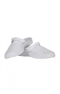 Туфли мужские Сабо кожа белые