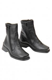 Ботинки женские зимние нат.кожа черные