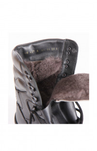 Ботинки мужские м.62 нат.мех черные