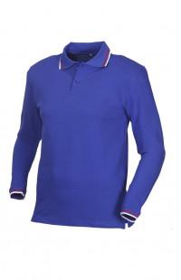 Рубашка поло с длинным рукавом хлопок синий