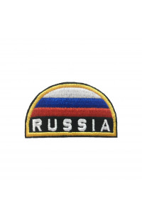 Шеврон Флаг Russia полукруг