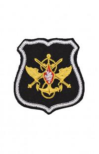 0505 Шеврон Эмблема ЦА МО РФ черный на контактной ленте