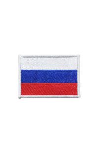 "Шеврон ""Флаг РФ"" серебристый"