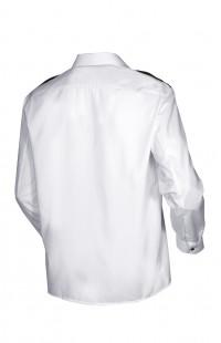 Сорочка форменная с длинным рукавом белая с отделкой