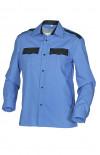 Сорочка форменная с длинным рукавом голубая с отделкой