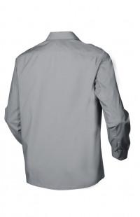 Сорочка мужская с длинным рукавом серая