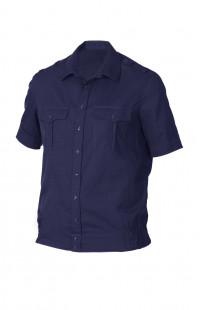 Сорочка форменная с коротким рукавом синий