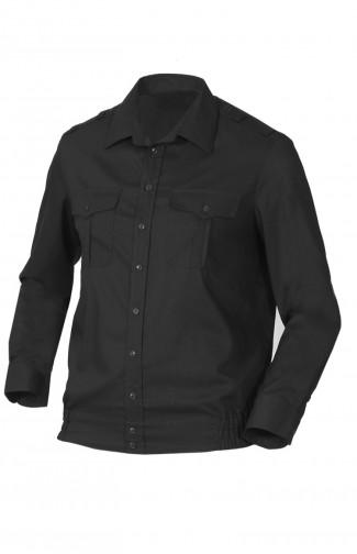 Сорочка форменная с длинным рукавом черный