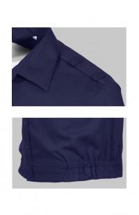 Сорочка форменная с длинным рукавом синий