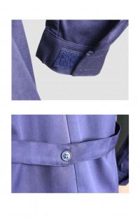 Халат рабочий мужской смесовая синий с серым