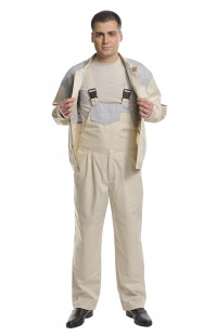 Костюм рабочий для защиты от ОПЗ смесовая бежевый