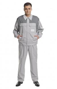 Костюм рабочий для защиты от ОПЗ смесовая серый