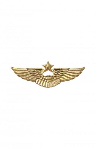 Эмблема ВВС РФ на тулью фуражки металл золотистый