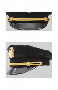 Ремешок на фуражку металлизированный (светлое золото)