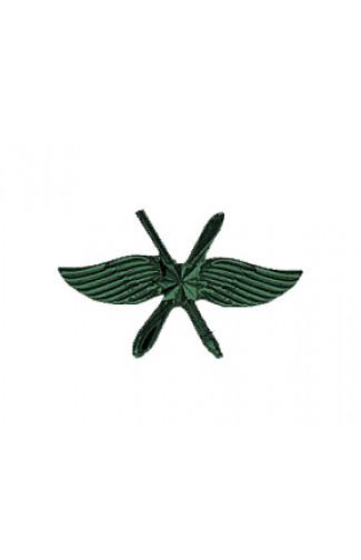 Эмблема ВКС металл зеленый матовый