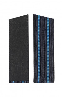 Погоны ВВС с 2 голубыми просветами со скосом синий