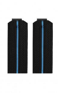 Погоны ВМФ с 1 голубым просветом черный
