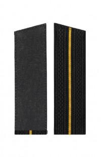 Погоны ВМФ с 1 желтым просветом со скосом черный
