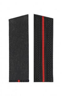 Погоны ВМФ с 1 красным просветом со скосом черный