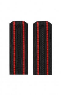 Погоны ВМФ с 2 красными просветами черный