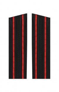Погоны ВМФ с 2 красными просветами со скосом черный