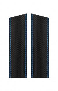 Погоны ВМФ с голубым кантом со скосом черный