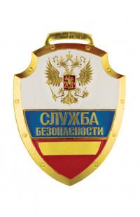 Нагрудный знак Служба безопасности триколор металл