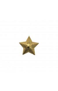 Звезда 20мм золотая рифленая